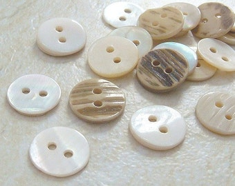 100(pcs) Round Shaped Mother of Pearl Shell Buttons EB27