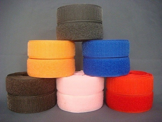 6 Roll Of 2 Yards Sew On 1 Inch Velcro Hook And Loop By