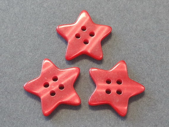 Lot of 20 Large Star Buttons Sewing Craft EB139