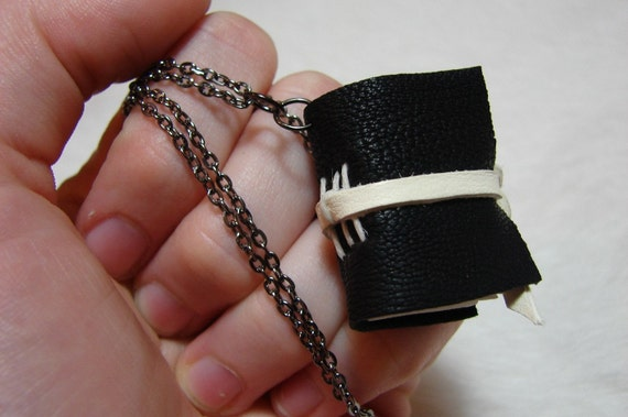 Checkmate - Leather Journal Necklace