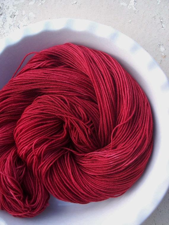 The Tell-Tale Heart --Classic Sock-- Hand Painted Superwash Merino Wool/Nylon Sock Yarn