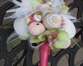 Private Listing for idoveggiemom0113 Seashell Wedding Bouquet and Cake Topper for Beach Weddings