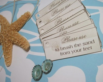 Beach Wedding Tags -Starfish Tags - Destination Wedding Decor and Wedding Favors (25) - Customizable