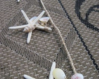Starfish Garland for Weddings - Add your ribbon streamers for a beautiul decoration