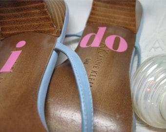 i do Shoe Decals for Beach Weddings - Professional Vinyl in your Text Choice and color Choice