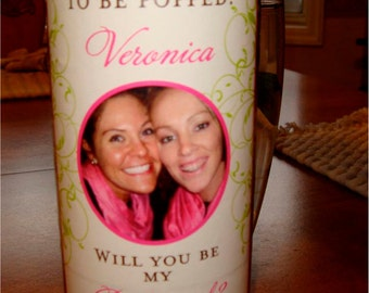Personalized Bridesmaid and Bridal Party Gifts - Custom Bridesmaid Photo Wine Labels for each member of your Bridal Party