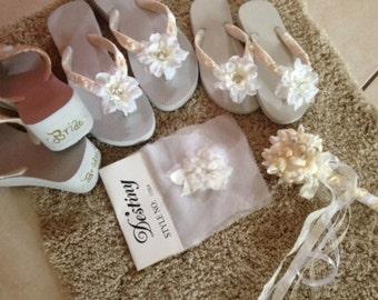 Beach Wedding Bridesmaid Bouquets - 1 Seashells and Starfish and Pearls Ball