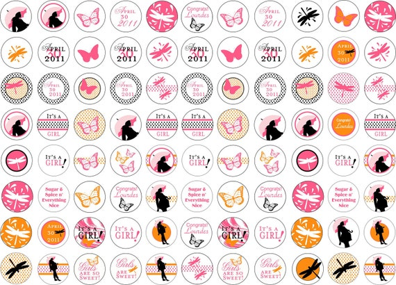 Baby Shower Stickers For Hershey Kisses ~ Unavailable listing on etsy