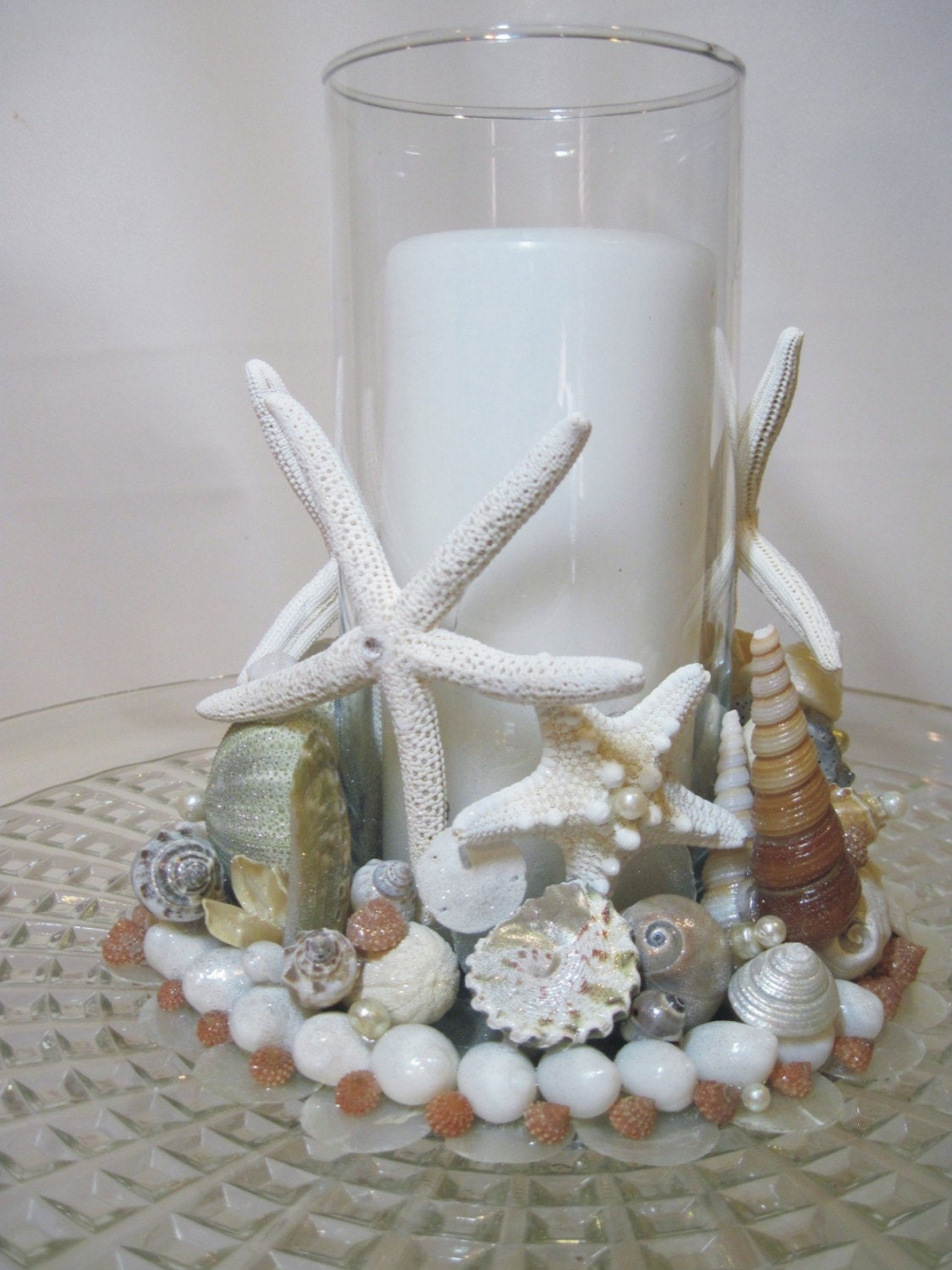 Beach Wedding Sand Ceremony Keepsake Seashell Candle Holder