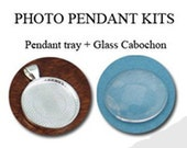 Qty 10 - 1 Inch Silver Plated Round Pendant Tray with Matching Glass