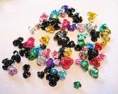 100 PCS Mixed Aluminum Flower Beads