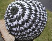 Crochet Green Zig Zag Beanie Hat