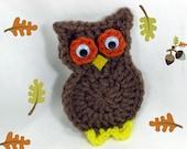 Crochet Owl Fridge Magnet