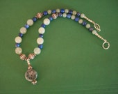 Old Carved Jade w/ New Jade and Lapis Lazuli
