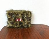 Small Green & Black Monster Pouch