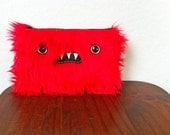Large Red Monster Pouch