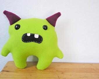 Momo the little monster- Lime & Magenta
