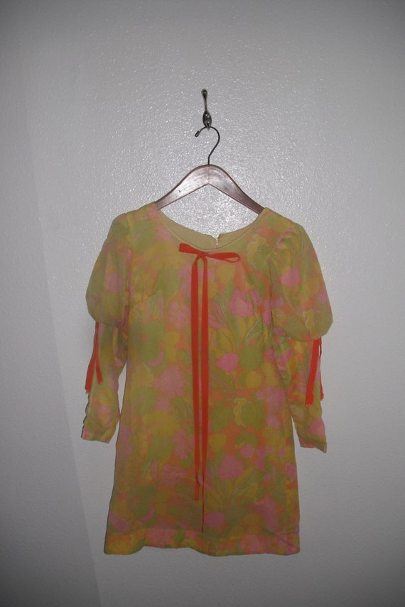 60s floral baby doll dress