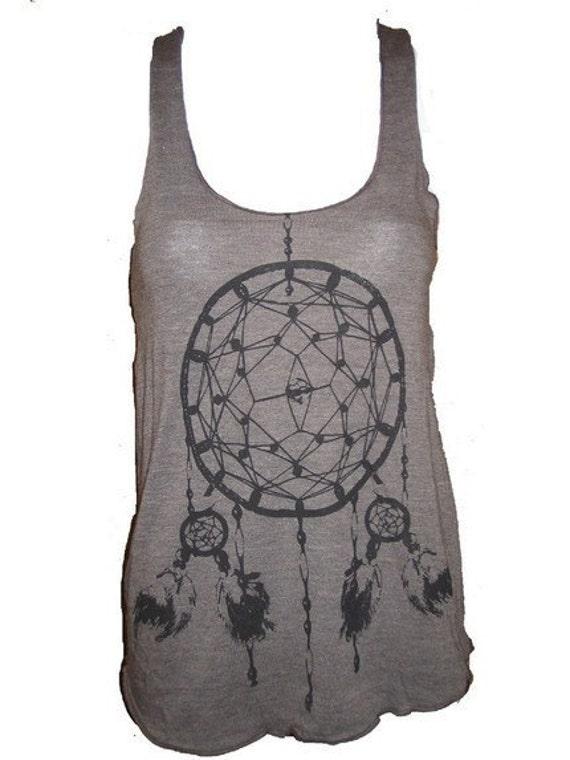 Dreamcatcher Native American Art Tank T-shirt Ladies American Apparel L
