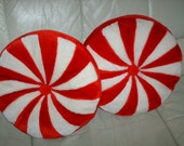 matching christmas peppermint candy pillows so soft ON SALE