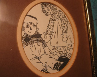 raggedy ann and andy picture in frame