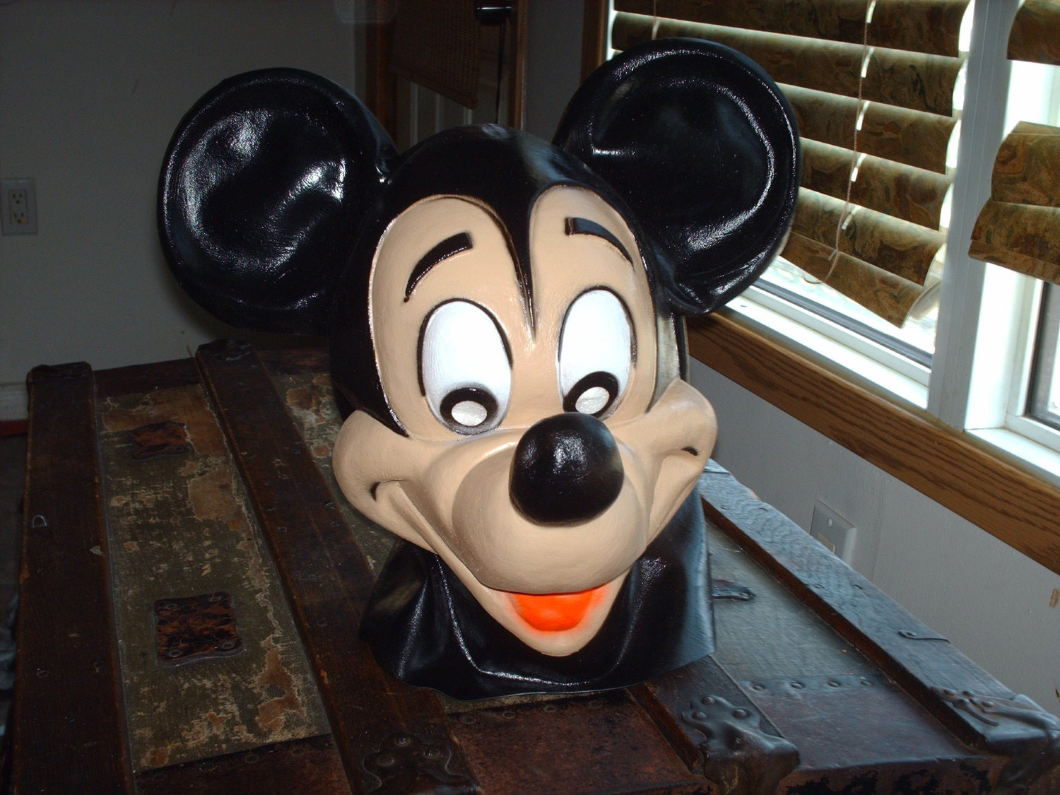Old Full Mickey Mouse Rubber Mask