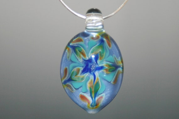 Blown Glass Pendant - Lampwork Pendent - Boro Pendant - Handblown Glass - Purple