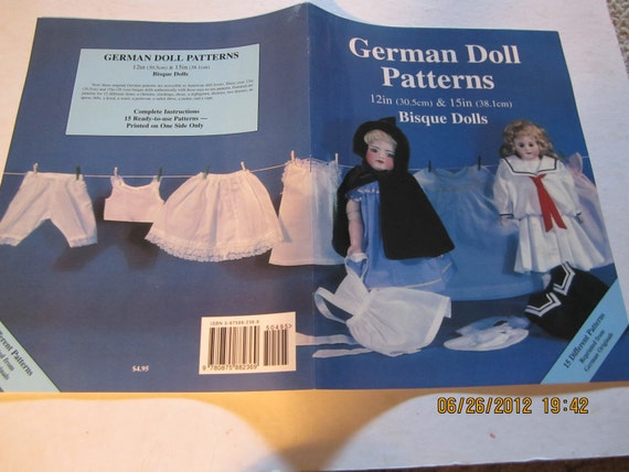 GERMAN DOLL Patterns for Bisque Dolls 15 different patterns book Hobby House