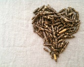 Brown Paper Beads from Upcycled Japanese Giftwrap