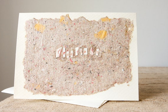 Handmade Paper Collage Greeting Card
