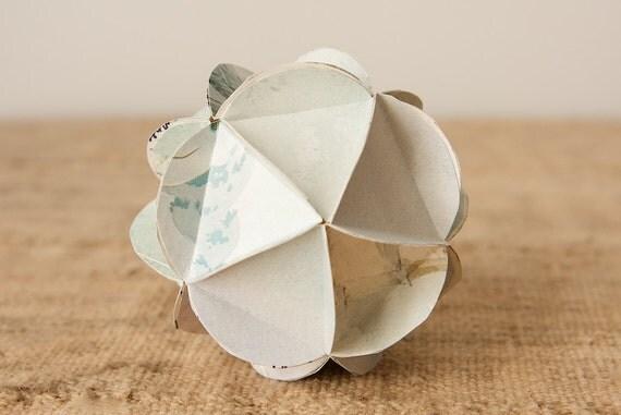 Custom Order for Amanda-Geometric Upcycled Ornaments