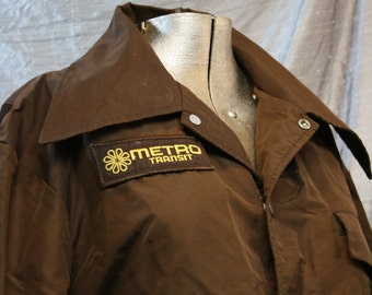 Vintage Brown Metro Jacket - Small
