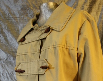 Vintage Toggle Button Trench Coat