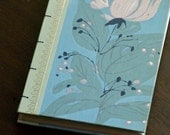 Blue and pink rose coptic bound journal
