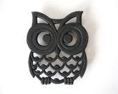 Vintage Cast Iron Owl Trivet