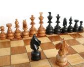 Vintage Wooden Travel Chess Set