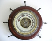 Vintage Ship Wheel Barometer Nautical Home Decor - CIJ SALE