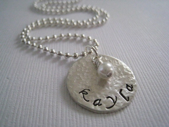 Hammered..... Hand Stamped Sterling Silver Necklace