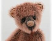 Pipkins Bears, artist teddy bear  pattern  PDF file, 2.5 in PIP a miniature bear