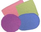 Placemat Set  (4 shapes) - PDF Crochet Pattern - Instant Download
