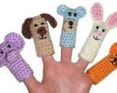 Animal Finger Puppets - PDF Crochet Pattern - Instant Download