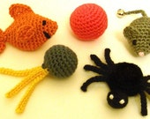 5 Quick Cat Toys - PDF Crochet Pattern - Instant Download