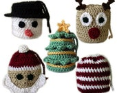 5 Christmas Gift Bags - PDF Crochet Pattern - Instant Download