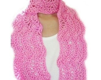 Pretty Lady Scarf - PDF Crochet Pattern - Instant Download