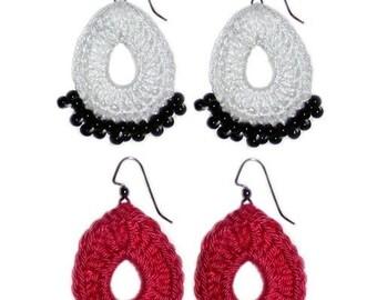 Teardrop Earrings - PDF Crochet Pattern - Instant Download