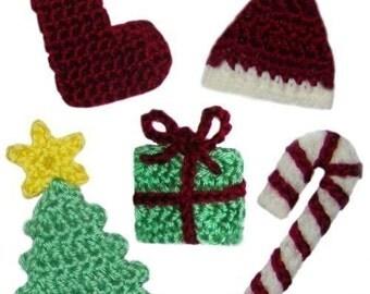 Christmas Appliques Set No.1 - PDF Crochet Pattern - Instant Download