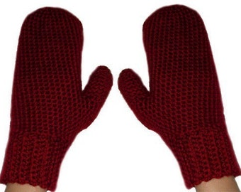 Easy Adjustable Mittens - PDF Crochet Pattern - Instant Download