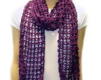Absolutely Easy Lace Scarf - PDF Crochet Pattern - Instant Download