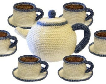 Tea Party Set - PDF Crochet Pattern - Instant Download