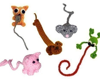 Animal Bookmarks - PDF Crochet Pattern - Instant Download